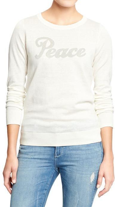 Old Navy Women's Pop Color Crew-Neck Sweaters