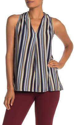 Max Studio V-Neck Stripe Tank Top