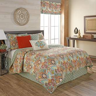 Waverly 16867BEDDKNGFST Boho Passage Reversible Quilt Collection