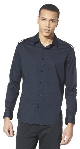 Mossimo Men's Epaulet Polka Dot Dress Shirt