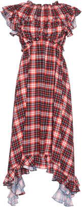 MSGM Plaid Ruffle Dress