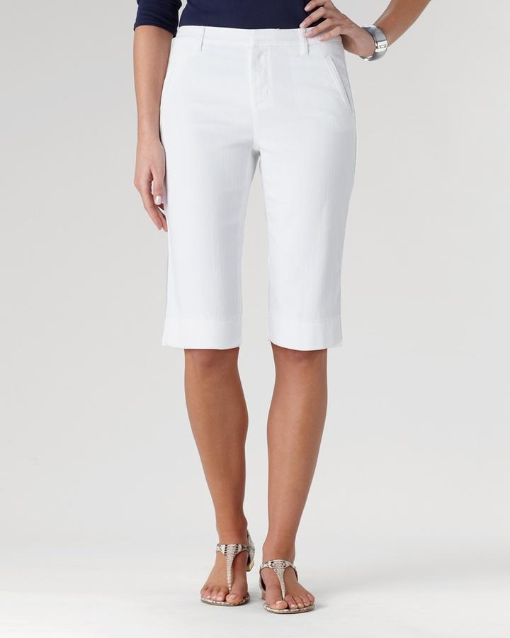 Coldwater Creek Eyelet denim shorts
