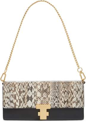 Tory Burch Juliette Exotic Genuine Snakeskin & Leather Clutch