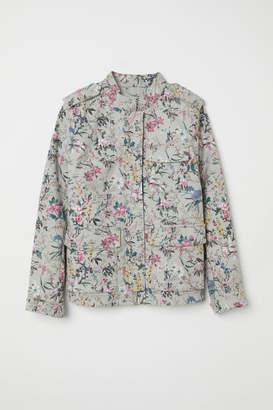 H&M Cotton Cargo Jacket - Gray