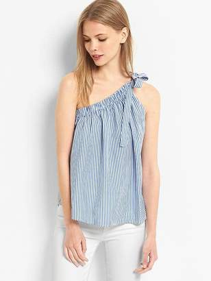 Stripe one-shoulder top $49.95 thestylecure.com