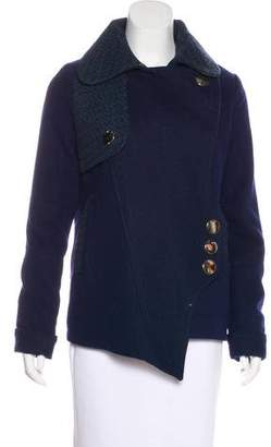 Three floor Wool-Blend Jacket