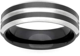 GETi Zirconium Black and Natural 5mm Ring