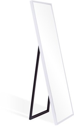 """Patton Wall Decor White Free Standing Floor Mirror with Adjustable Easel, 17"""" x 59"""""""