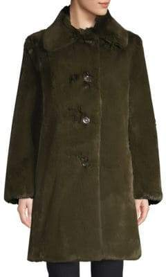 Burberry Tenbridge Faux-Fur Coat