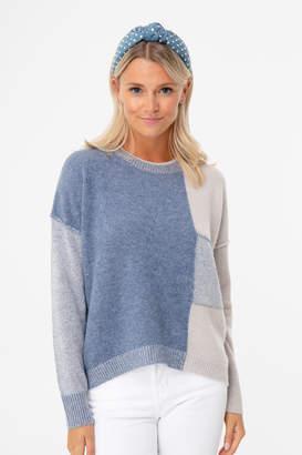 Brochu Walker Copen Blue Ila Colorblock Sweater