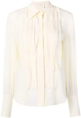 Chloé pleated placket shirt