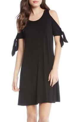 Karen Kane Knotted Cold Shoulder A-Line Dress