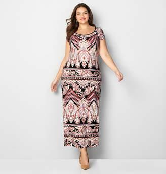 Avenue Graphic Paisley Maxi Dress