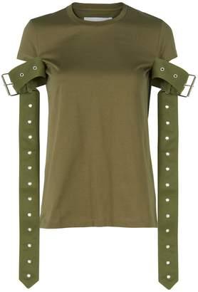Marques Almeida Marques' Almeida Belt Sleeve Green T-Shirt