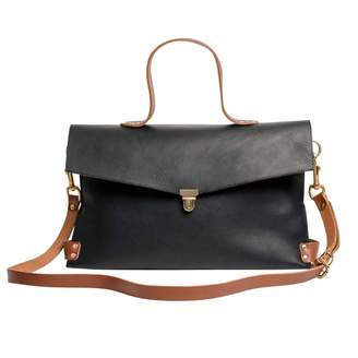 N'damus London Piccadilly Black Leather Crossbody Bag