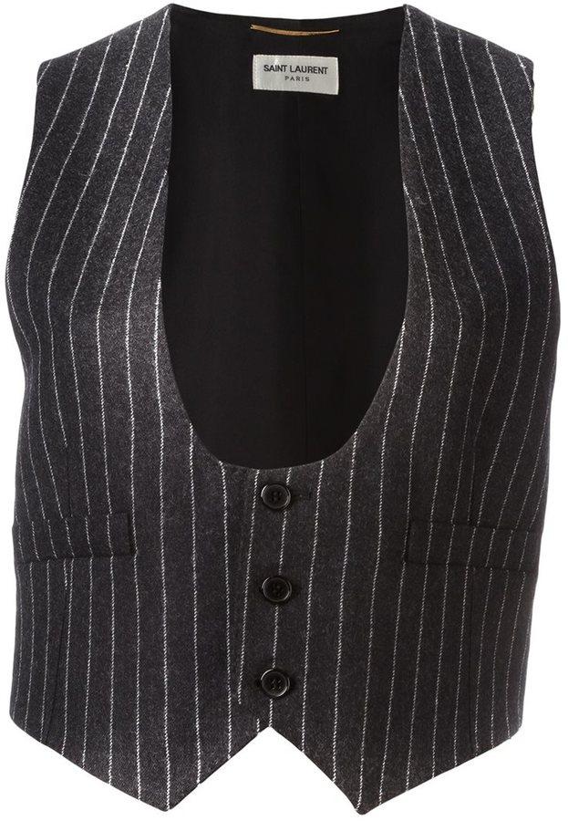 Saint LaurentSaint Laurent pinstripe waistcoat