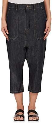 Yohji Yamamoto Regulation Women's Drop-Rise Crop Jeans