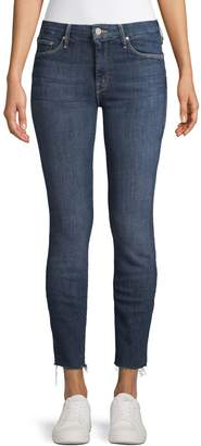 Mother Distressed Skinny Ankle Jeans