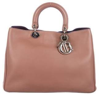 Christian Dior Leather Diorissimo Shopping Tote