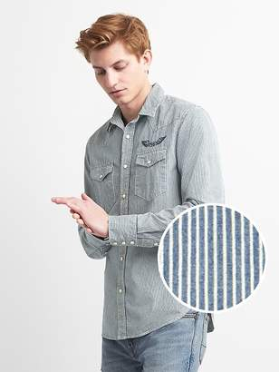 Gap Slim Fit Western Denim Shirt
