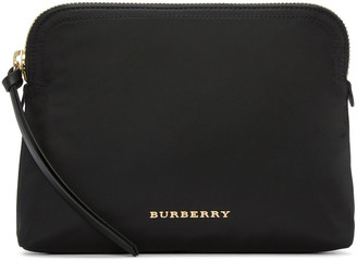 Burberry Black Logo Cosmetic Case