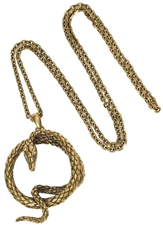 Gold Serpent Pendant