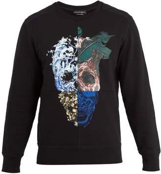 Alexander McQueen Nature Skull-print cotton-jersey sweatshirt
