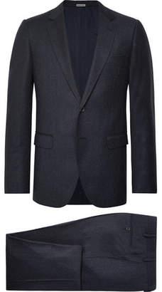 Lanvin Navy Attitude Slim-Fit Wool And Cashmere-Blend Suit