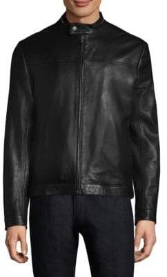 HUGO BOSS Lucas Leather Jacket