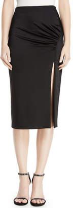 Cushnie et Ochs High-Waist Fitted Jersey Pencil Dress w/ Front Slit