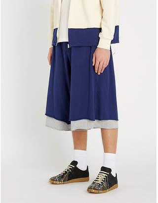 Marni Two-tone cotton-jersey shorts