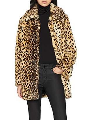 Warehouse Women's Animal Faux Fur Coat,(Size:)