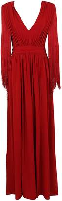 Alberta Ferretti V-neck Long Dress