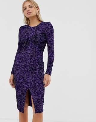 Minimum Moves By twist front midi dress