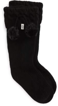 UGG R UGGpure(TM) Pompom Tall Rain Boot Sock