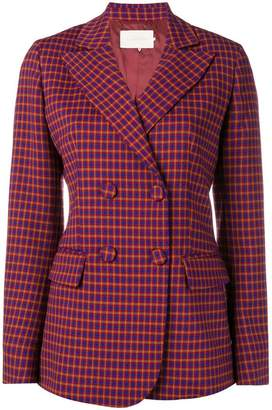 L'Autre Chose double breasted check blazer