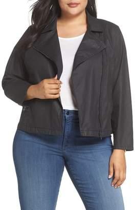 Eileen Fisher Short Waxed Cotton Jacket