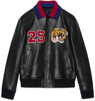 Leather bomber with embroideries $3,750 thestylecure.com
