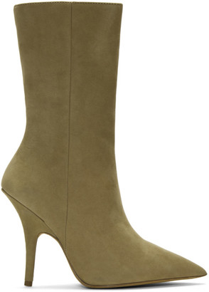 Yeezy Taupe Nubuck Ankle Boots