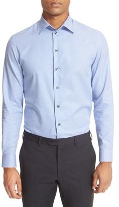 Men's Armani Collezioni Trim Fit Micro Houndstooth Dress Shirt $295 thestylecure.com