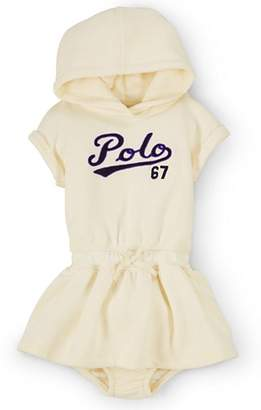 Ralph Lauren Girls' Fleece Hooded Dress & Bloomer