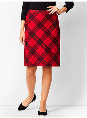 Talbots Twill A-Line Skirt - Country Plaid