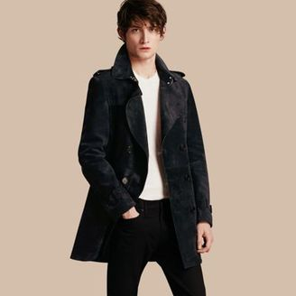 Burberry Suede Trench Coat $4,595 thestylecure.com