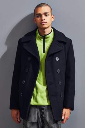 Schott Classic Melton Wool Navy Pea Coat