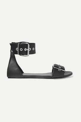 Balenciaga Belt Leather Sandals - Black