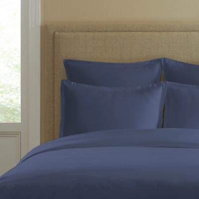 300-Thread-Count Cotton Standard Pillow Sham in Blue Jean