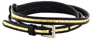 Prada Leather Wrap Bracelet