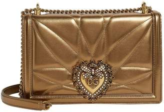 Dolce & Gabbana Medium Metallic Leather Devotion Bag