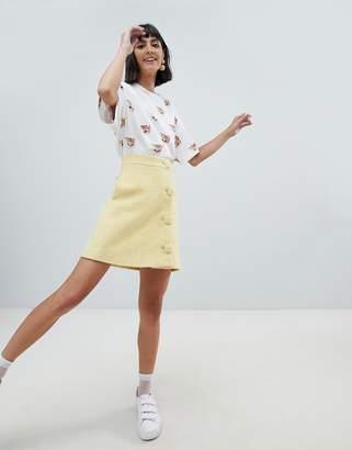 Paul & Joe (ポール & ジョー) - Paul & Joe Sister 60's wool mini skirt