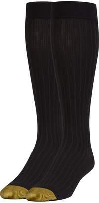 Gold Toe Men's Mild Compression Rib Pattern Otc 1 Pack